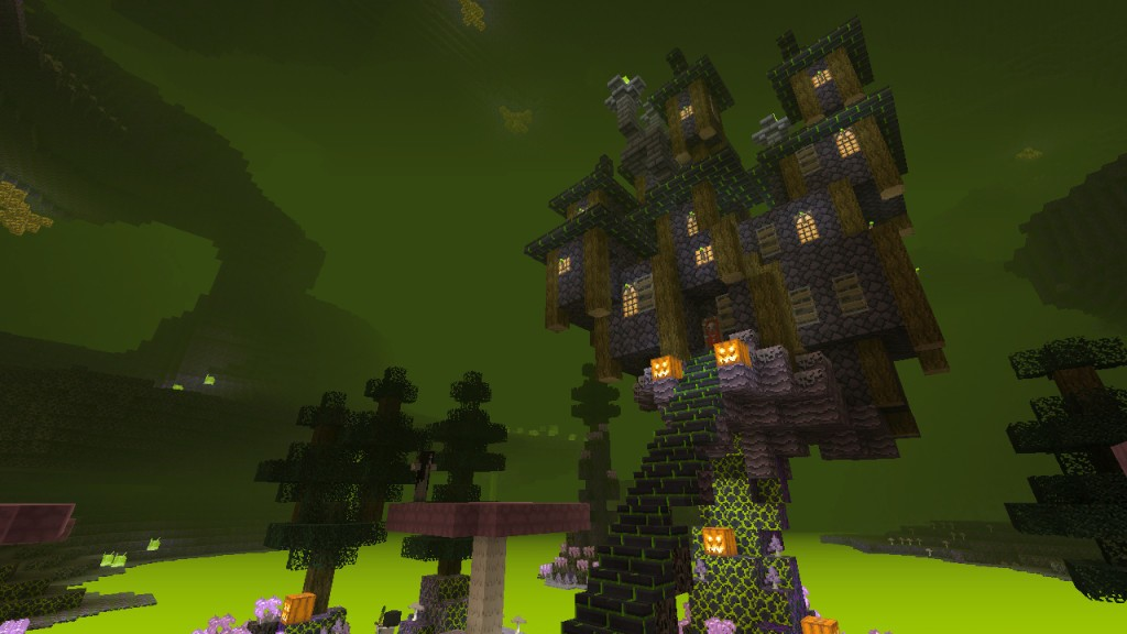 Minecraft's ongoing Halloween event features boss battles and haunted houses