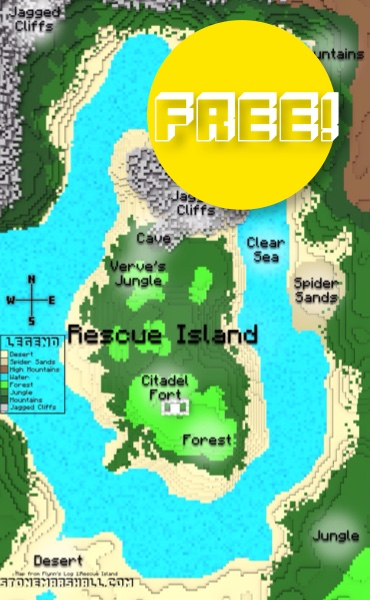 Stone Marshall Flynn's Log Rescue Island color map