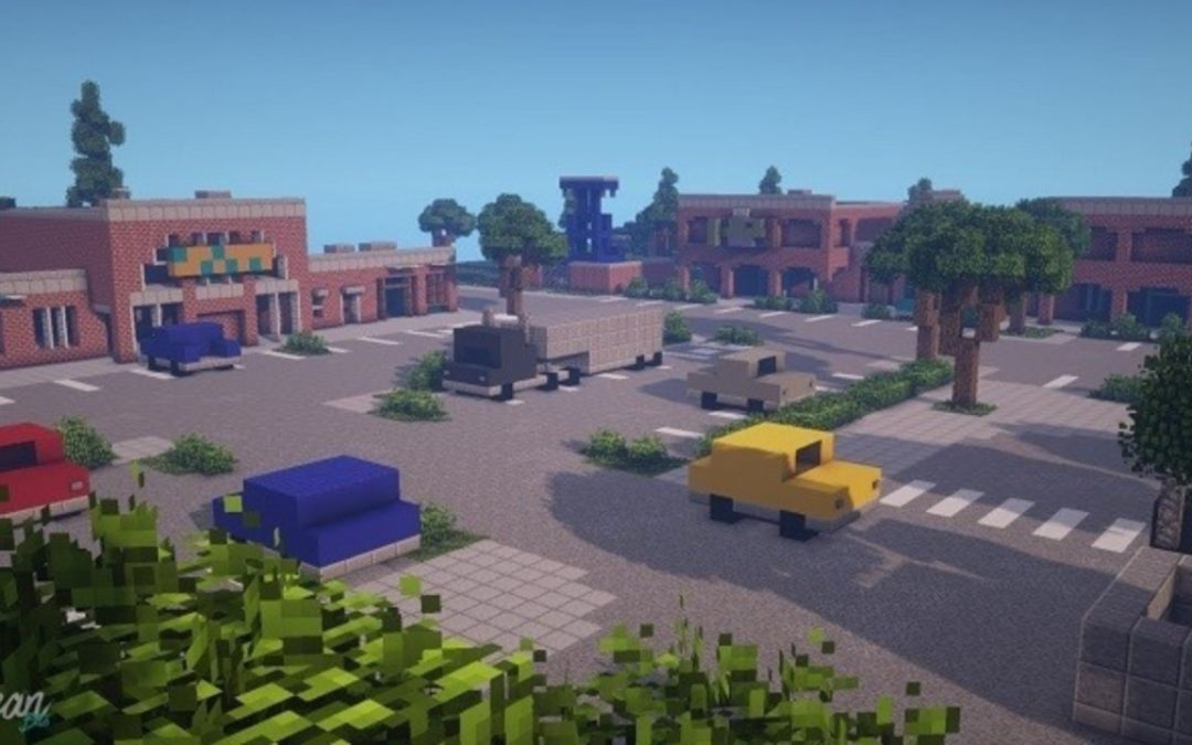 'Minecraft' Player's 'Fortnite' Timelapse of Retail Row Is Incredibly Satisfying