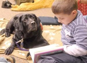kidsreading2dogs