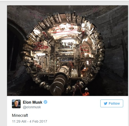 Minecraft Players Design Elon Musks Secret Spacex Tunnel For Him
