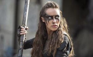 """The 100  """"Watch The Thrones"""" Pictured: Alycia Debnam-Carey as Lexa --  Credit: Cate Cameron/The CW"""