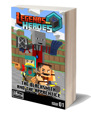 Free Minecraft Comic Book| Legends & Heroes-The Blacksmith and the Apprentice