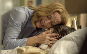 """THE X-FILES:  L-R:  Gillian Anderson and guest star Sheila Larkin in the """"Home Again"""" episode of THE X-FILES airing Monday, Feb. 8 (8:00-9:00 PM ET/PT) on FOX.  ©2016 Fox Broadcasting Co.  Cr:  Ed Araquel/FOX"""