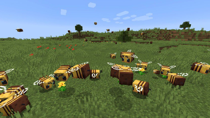 Minecraft Guide to Bees: Honey blocks, beehives, release date, and more